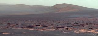 West Rim of Endeavour Crater on Mars (False Colour)