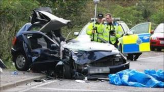 Crash scene (Pic: Eddie Mitchell)