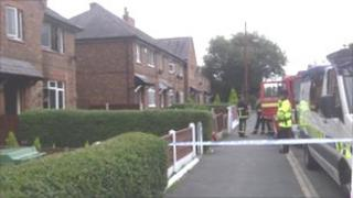 Scene of fatal house fire in Broadheath