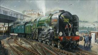 Golden Arrow painting by Terence Cuneo