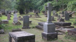 The graveyard in Kandy