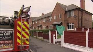 Scene of fatal house fire in Broadheath