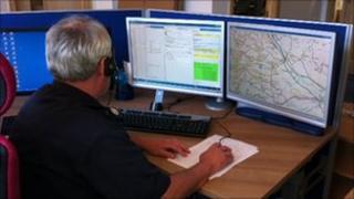 Shrewsbury fire control room