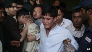 Relatives of those killed in Tuesday's attack outside a Quetta hospital