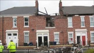 The house after the explosion