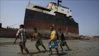 Ship breaking in Chittagong