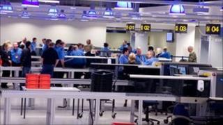 security area at Terminal 1