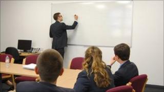 Class at Carmel College
