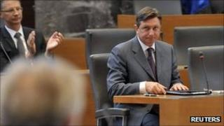 Slovenian Prime Minister Borut Pahor reacts after losing a confidence vote in parliament in Ljubljana, 20 September