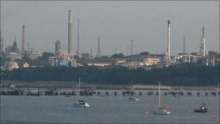 Fawley refinery and Southampton Water