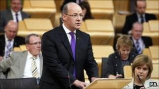 John Swinney delivers his budget statement