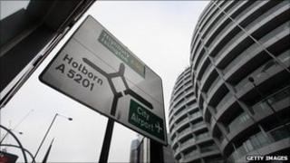 """Silicon roundabout"" in east London"