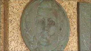 Memorial plaque for John Wesley Woodward