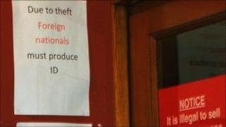 The sign in Draperstown: Pic courtesy of The Irish News