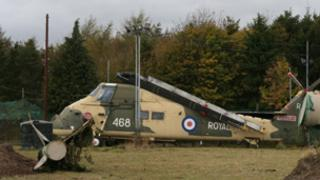 The Wessex helicopter at Rednal