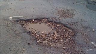 Potholes in Lancashire