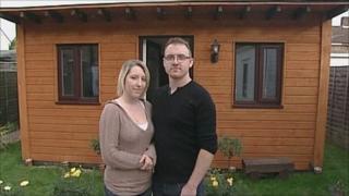 Victoria Campbell and her boyfriend Bill Warden