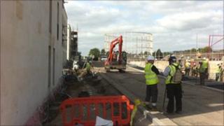 Building work continues at Bath's Riverside development