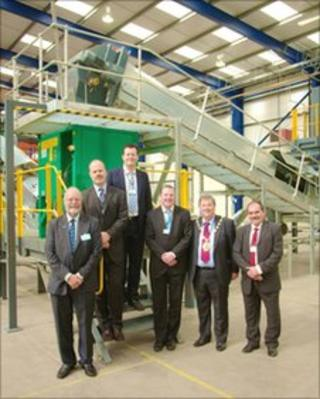 A VIP group at the opening of BASF Metals Recycling Limited's new site in Cinderford