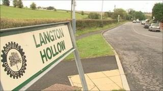 Langton Hollow sign