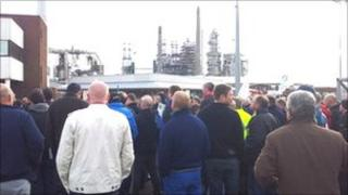 Protest at Immingham