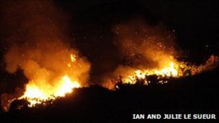 Fire at La Pulente