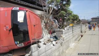Earthquake and tsunami damage. Pic: John McCullough