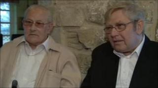 (L-r) Royston and Doug Bird