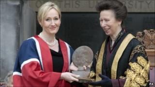 JK Rowling and the Princess Royal