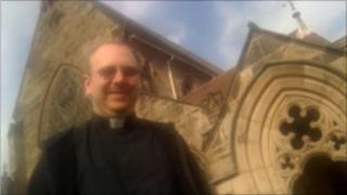 Father Chris Matthews at Shrewsbury Cathedral