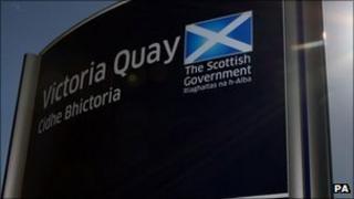 Scottish government sign