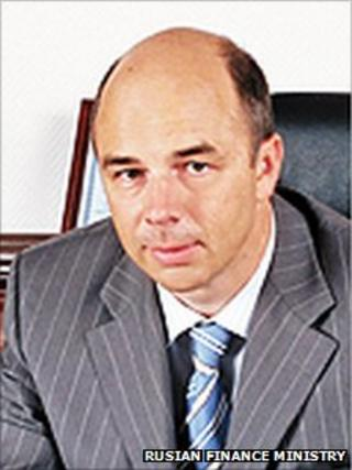 Anton Siluanov (image from Russian finance ministry website)