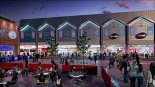 Artist's impression of Gloucester Quays development