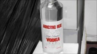 Bottle of fake vodka
