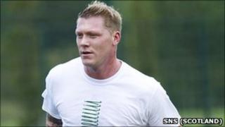 Garry O'Connor training with Hibernian
