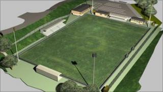 Artist's impression of Maidstone stadium