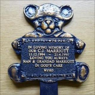 A stolen plaque