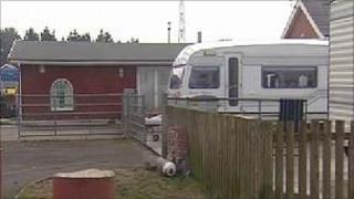 Traveller site in Rumey, Cardiff