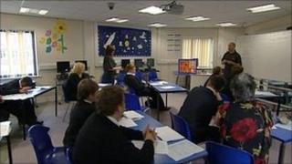 Andy Butcher in classroom