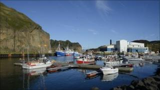 Fishing boats in the Westmann Islands