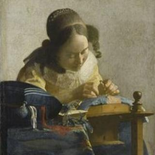 The Lacemaker (1669-70) by Johannes Vermeer. Courtesy of Reunion des Musees Nationaux/Gerard Blot
