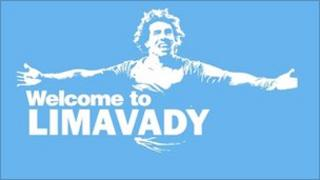 Poster welcoming Tevez to Limavady