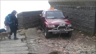 The vehicle was found parked next to the summit visitors' centre