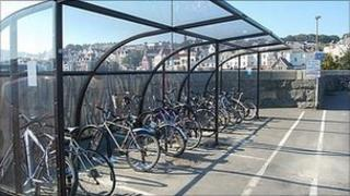 Cycle shelter on North Beach