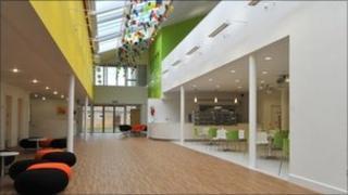 Sixth Form centre at Cottenham Village College, Cambridgeshire