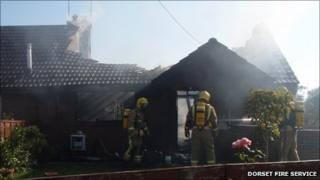 Fire at bungalow