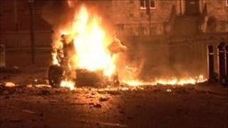 The bomb exploded outside Newry courthouse in February last year