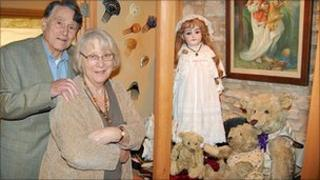 George and Barbara Sutton with some of the toys they are keeping for sentimental reasons