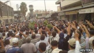 Anti-government protest in Homs - 28 September