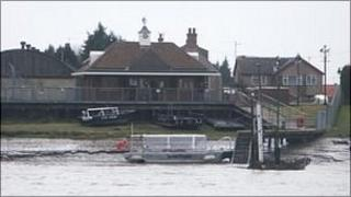 Ferry on River Great Ouse at King's Lynn